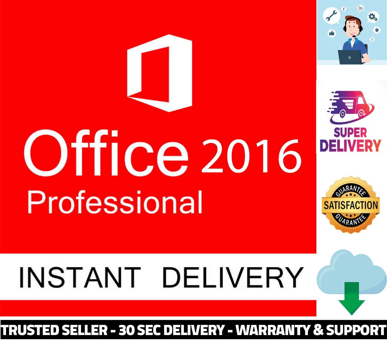 Buy Office 2016 Professional Plus Lifetime Genuine License ...